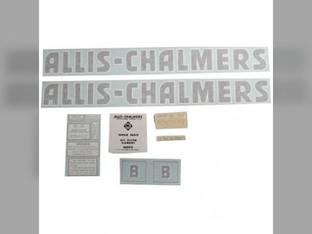 Decal Set B Black Even Letters Vinyl Allis Chalmers B