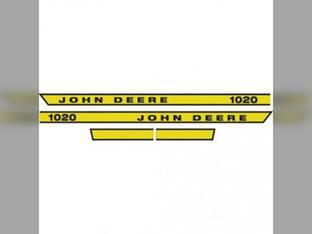 1020 Hood Decal John Deere 1020