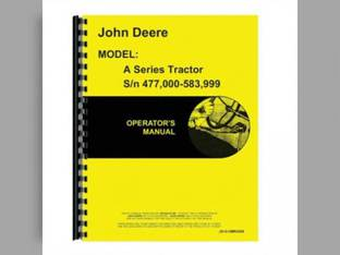 Operator's Manual - A John Deere A A OMR2000
