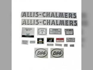 Decal Set D14 w/Oval Model Letters Mylar Allis Chalmers D14
