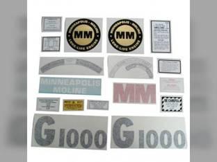 Tractor Decal Set G1000 Vinyl Minneapolis Moline G1000