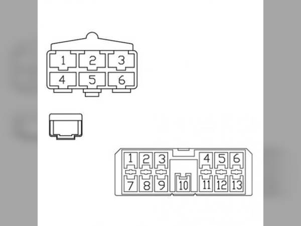 radio wiring harness - case ih 2166 2188 2144 2366 2388 2344 2377