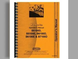 Operator's Manual - B5100D B5100E B6100D B6100E B7100D Kubota B7100 B5100 B5100 B5100 B6100 B6100 B6100