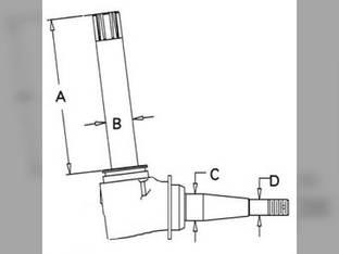 Spindle - RH/LH David Brown 770 780 K961815