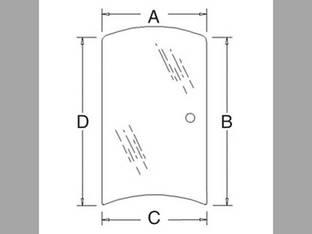 Cab Glass - Side Window RH Kubota M5040 M6040 M7040 M8540 M9540 3C581-70540