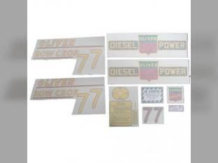 Tractor Decal Set 77 Row Crop Diesel Yellow Vinyl Oliver 77
