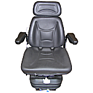 Seat and Suspension Assembly - Black Vinyl
