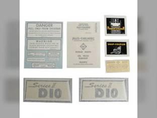 Decal Set D10 Series II w/Chrome Vinyl Allis Chalmers D10