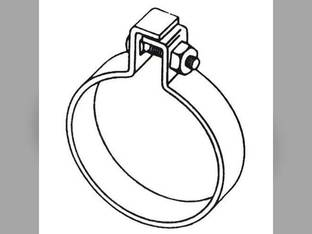 "Muffler Clamp - 3-5/8"" One Bolt Style"