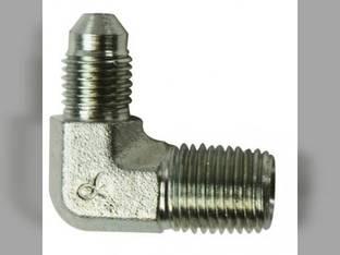 """Hydraulic Adapter 90° Angle 1/2"""" Male JIC 37° 1/4"""" Male NPT Fitting"""