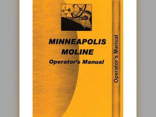Operator's Manual - R RTE RTN RTS RTU Minneapolis Moline R R