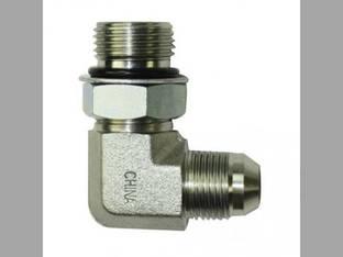 """Hydraulic Adapter 90° Angle 1/2"""" Male JIC 37° 5/8"""" Male O-Ring Fitting"""