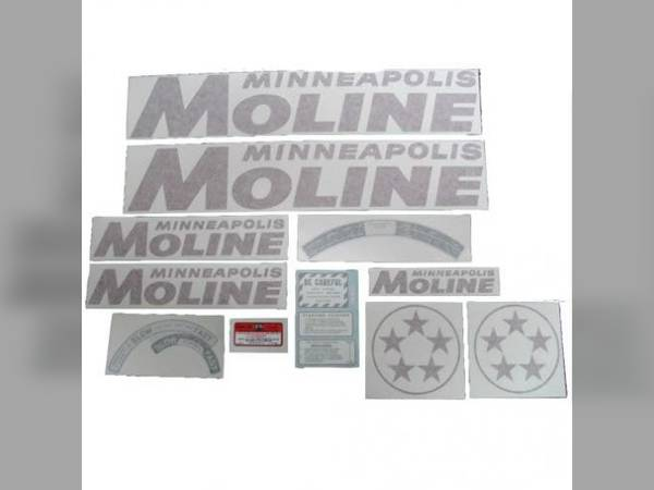 Minneapolis Moline Decals : Decal emblem sn for minneapolis moline