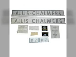 Tractor Decal Set D17 Vinyl Allis Chalmers D17