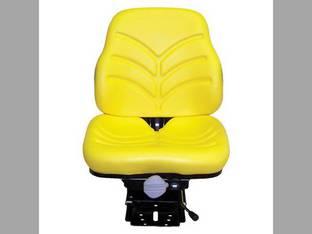 Seat Assembly - Mechanical Suspension Vinyl Yellow Massey Ferguson 396 New Holland TN75 John Deere 5410 5203 5210 5403 5303 5320 5103 5520 5220 5510 5420 5310 5300 White AGCO Allis Chalmers Deutz