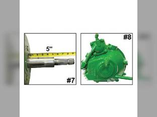 Remanufactured Feeder House Reverser Gear Box Assembly Hi Capacity John Deere 9750 9650 9550