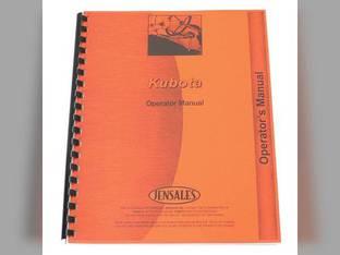 Operator's Manual - L2250 L2550 L2850 BF400G Kubota BF400 L2250 L2250 L2850 L2850 L2550 L2550