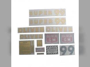 Tractor Decal Set Super 99 GM Vinyl Oliver Super 99
