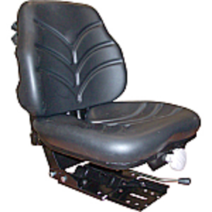 Vinyl Seat Assembly for Open Station Tractors - Black