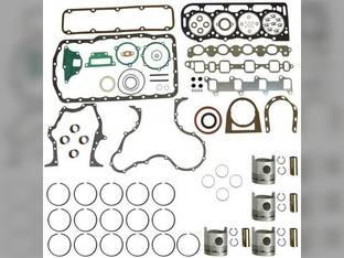 """Engine Rebuild Kit - Less Bearings - .040"""" Oversize Pistons Ford BSD444 6700 6610 6600 6710 268"""