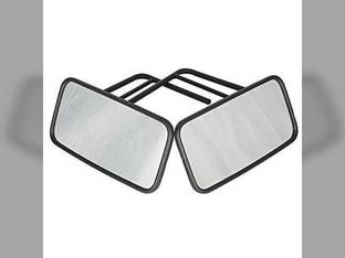 """Tractor Mirror Assembly w/Radius Arms LH and RH 7"""" x 14"""" Mirrors John Deere 4520 5200 7700 7810 7200 4320 7720 7520 5400 Case IH International 806 1486 1466 1066 1468 826 966 1086 1586 3688 986 Case"""