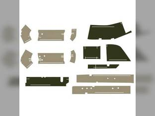 Cab Foam Kit with Post Pieces Less Headliner Multi-Brown/Sailcloth Tan John Deere 7700 7710 7800 7210 7610 7400 7410 7510 7810 7600 7200