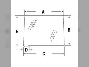 Cab Glass - Rear Quarter Window RH or LH International Hydro 100 766 966 1066 1466 1468 1566 1568 109168C1