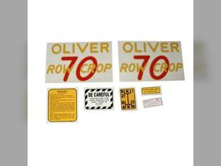 Tractor Decal Set 70 Row Crop Mylar Oliver 70