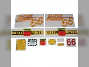 Tractor Decal Set 66 Standard Diesel Yellow Mylar Oliver 66