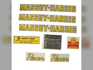 Tractor Decal Set Pacer Mylar Massey Harris Pacer