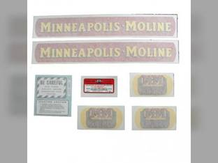 Tractor Decal Set MM Avery V Small Gold Tractor Vinyl Minneapolis Moline V