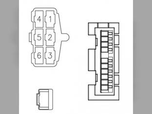 Radio Wiring Harness Case IH MX110 MX200 MX180 MX120