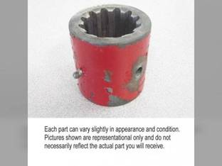 Used Drive Axle Shaft Coupler Case IH 1640 1680 2166 2188 2144 1660 1688 International 915 1460 1480 184341C1 184341C2