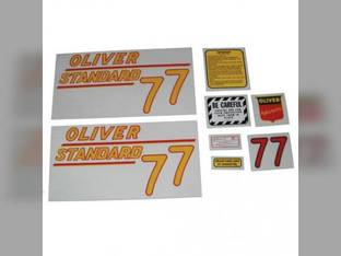 Tractor Decal Set 77 Standard Yellow Mylar Oliver 77