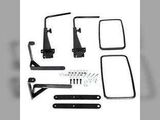 """Tractor Mirror Assembly w/Extendable Arms LH and RH 9"""" x 16"""" Mirrors Sound Guard Cab John Deere 4640 4755 4250 4650 8430 4030 9400 4840 4450 4050 4240 4630 4255 4055 4440 4850 4230 4455 4040 4430"""