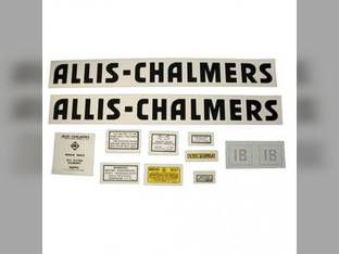 Decal Set IB Black Even Letters Mylar Allis Chalmers IB