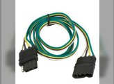 """Trailer Wire Extension Loop w/Integrated Ground 4-Pole Flat 48"""" Length"""
