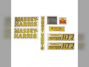 Tractor Decal Set 102 Senior Twin Power Mylar Massey Harris 102