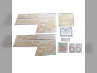 Tractor Decal Set 66 Standard Yellow Vinyl Oliver 66