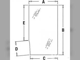 Cab Glass - Door Upper LH John Deere 610B 310 410B 315 515 410C 310C 510C 515B 710C 510B 210 315CH 610 210C 510 315C 415B 415 410 710B 610C 710 T113463