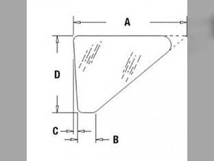 Cab Glass - Front Side Lower Case 780D 680L 680H 580D 780C 580SE 580SD 680K 780B CG3114
