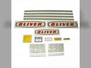 Tractor Decal Set 990 Early Diesel Mylar Oliver 990
