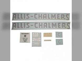 Decal Set C Blue Long A&S Vinyl Allis Chalmers C