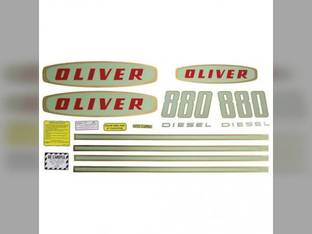 Tractor Decal Set 880 Early Diesel Mylar Oliver 880