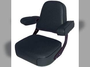Seat Assembly Fabric Black John Deere 4450 9510 9400 4840 4640 4020 4755 4010 4000 4040 4430 4250 4650 9600 7720 8430 4030 4230 4455 4630 9410 3020 4255 9610 4055 4320 4440 4850 4050 4240 3010 7700