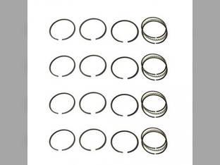 "Piston Ring Set - .020"" Oversize - 4 Cylinder Case VO V VI VC Massey Harris 81 20 101 21 CockShutt / CO OP 20 Continental F124"