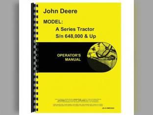 Operator's Manual - A John Deere A A OMR2002