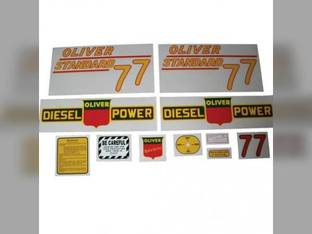 Tractor Decal Set 77 Standard Diesel Yellow Mylar Oliver 77