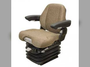Seat Assembly - Air Suspension with Armrests Grammer Style Brown Fabric John Deere 7320 6220 6410 6400 7720 6620 6120 6320 7420 6200 7520 6615 7820 6420 6605 6610 6300 6500 6110 6310 6405 7220 6210