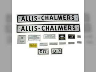 Decal Set D17 1957 to 1960 Mylar Allis Chalmers D17